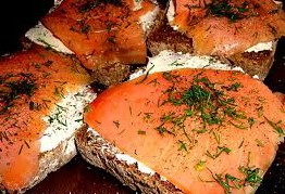 бутерброды с лососем по скандмнавски