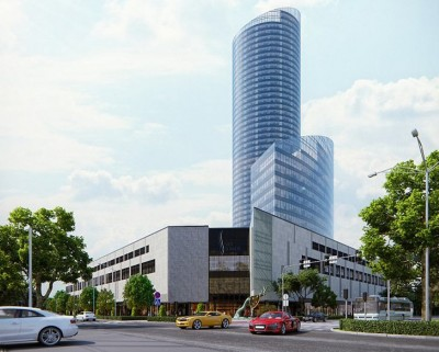 здание центра SKY TOWER во Вроцлаве