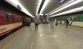 перрон на центральном вокзале Варшавы