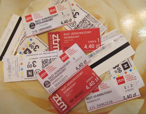 польские билеты на общественный транспорт