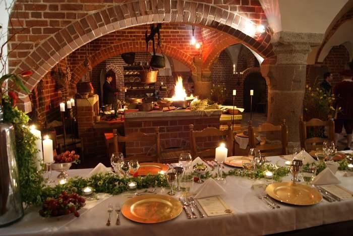 Мальборк обед в замке крестоносцев