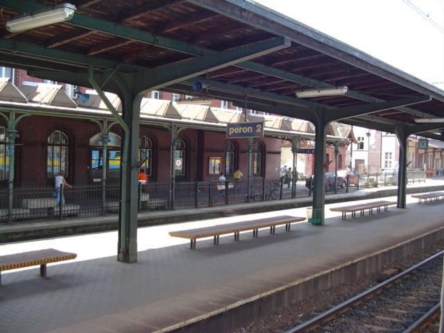 мальборк перрон вокзала