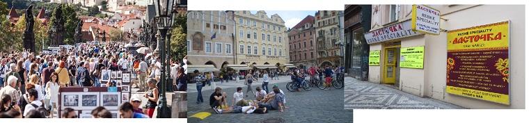 рынки, магазины, туристы в Праге