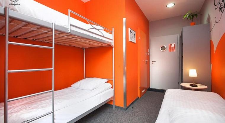 спальня в общем номере, хостел в Кракове