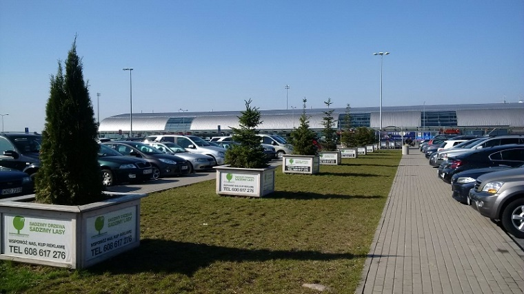 паркинг аэропорт Модлин Варшава