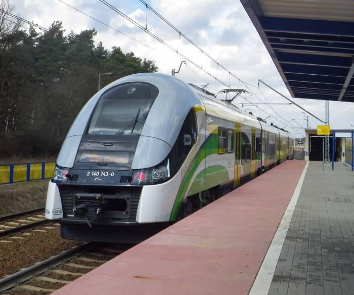 поезд аэропорт Модлин - Варшава