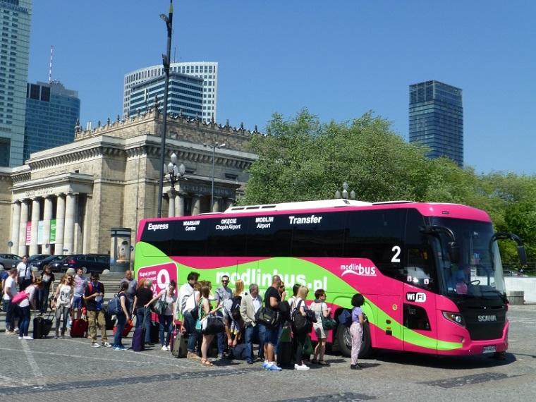 рейсовый автобус Варшава - Модлин