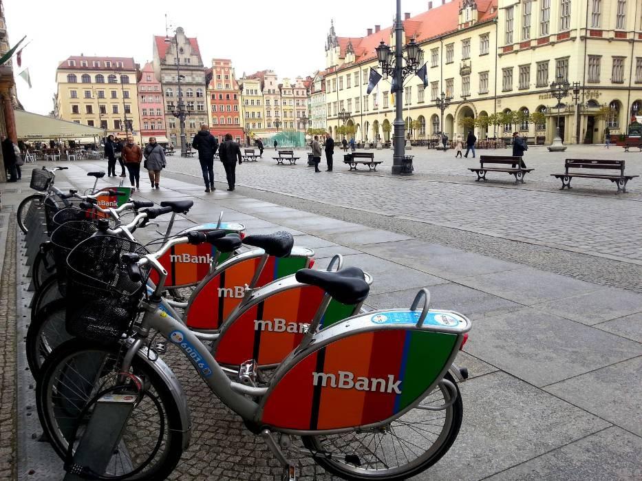 Врроцлавский городской велосипед
