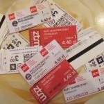 Билеты на проезд в польском  городском транспорте