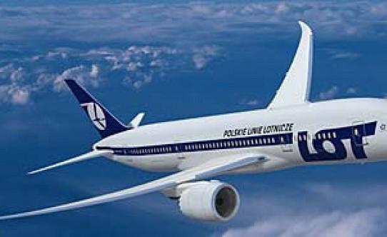 Самолет авиакомпании LOT